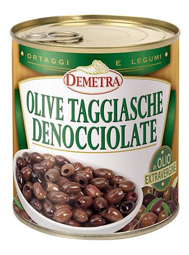 Demetra OLIVE TAGGIASCHE DENOCCIOLATE  750GR